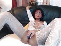 Brunette, Lingerie, Mature, MILF, Stockings