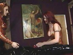BDSM, Threesome, Redhead, Femdom