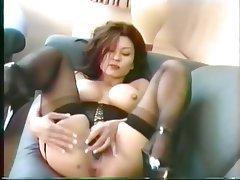 Masturbation, Brunette, Pantyhose, Mature