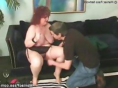 BBW, Big Boobs, Granny, Mature, Stockings