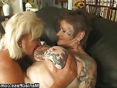 Big Boobs, Granny, Lesbian, Mature, Tattoo