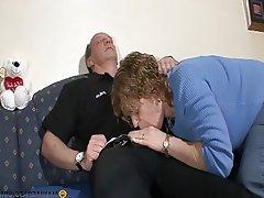 Blowjob, Brunette, Granny, Hardcore