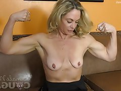 Blonde, Masturbation, MILF