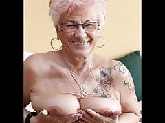 Granny, Masturbation, Mature, MILF, Tattoo