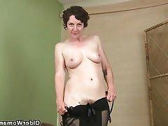 Mature, Masturbation, Mature, MILF, Stockings