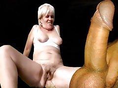 Granny, Anal, Cumshot, Mature