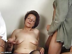 Granny, Hairy, Mature, Old and Young