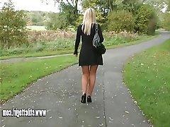 Babe, Blonde, Foot Fetish, High Heels, Pantyhose