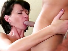 Anal, Blowjob, Threesome, Brunette, Double Penetration