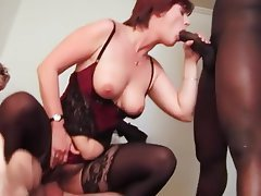Anal, Group Sex, Interracial, Mature, Stockings