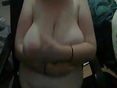 Saggy Tits, Big Boobs, Webcam, Handjob, Mature