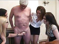 Handjob, CFNM, MILF, Masturbation, Old and Young