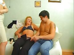 Creampie, Mature, Old and Young, Strapon, Threesome