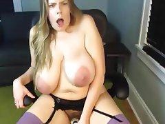 Dildo, Masturbation, Mature, Saggy Tits