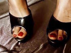Amateur, Close Up, Foot Fetish, Pantyhose, High Heels