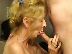 Blowjob, Mature, Granny, Cum in mouth