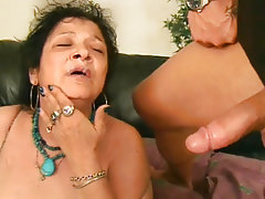 Blowjob, Cumshot, Mature, Old and Young, Granny