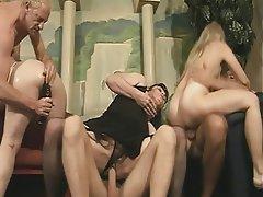 Blowjob, Group Sex, Mature, Blonde