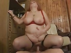 BBW, Big Boobs, Facial, Granny, Hardcore