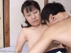 Asian, Big Tits, Blowjob, Mature