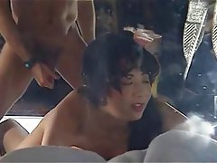 Asian, Blowjob, Cumshot, Double Penetration, Threesome