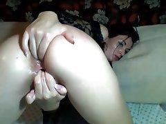 Brunette, Masturbation, Orgasm