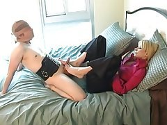 BDSM, Blonde, Cumshot, Foot Fetish