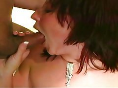 Blowjob, Brunette, Facial, Group Sex, Redhead