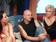 Big Boobs, Cumshot, German, MILF, Threesome