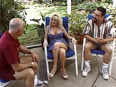 Blowjob, Threesome, Blonde, Group Sex