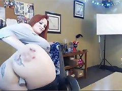 Masturbation, Mature, Redhead, Webcam